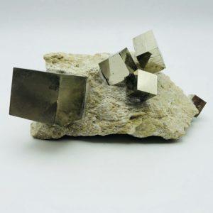 Pyrite Cube matrix from Navajun, Spain