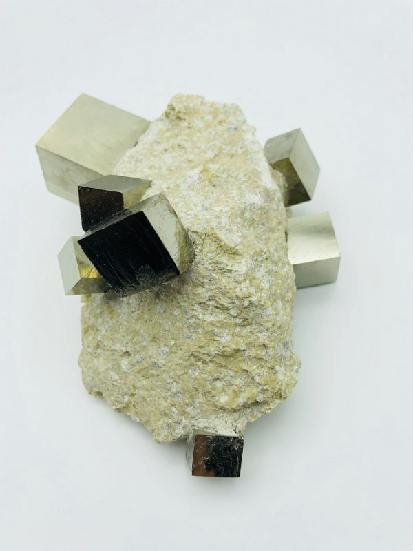 Pyrite Cube matrix from Navajun, Spain