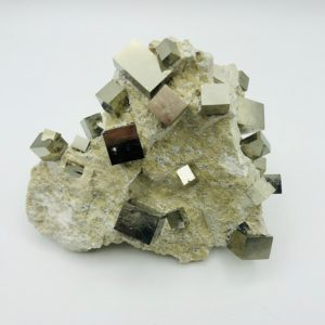 Pyrite matrix from Navajun, Spain (+25 cubes)