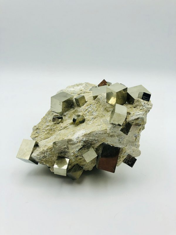 Pyrite matrix from Navajun, Spain (+25 cubes)