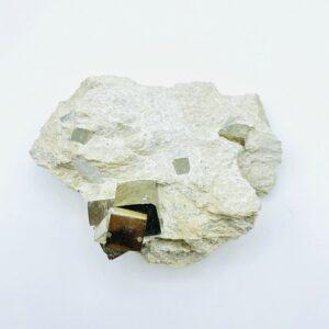 Pyrite Cluster on matrix from Navajun, Spain