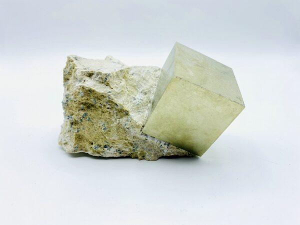 Very large Pyrite cube on matrix from Navajun, Spain