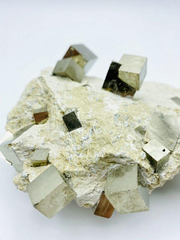 Beautiful Pyrite on matrix from Navajun, Spain