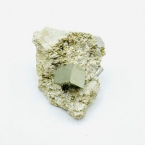 Small Pyrite on matrix from Navajun, Spain