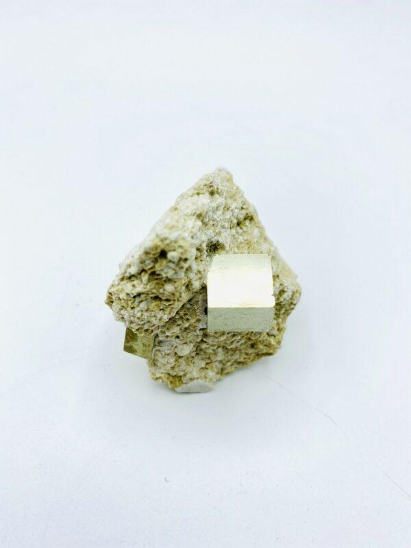 Small Pyrite on matrix from Navajun, Spain