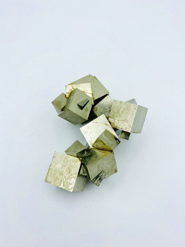 Complex Pyrite cluster from Navajun, Spain