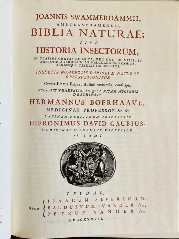 Jan Swammerdam - Bybel der natuure of historie der insecten - 1980