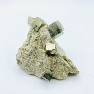 Fine & detailed Pyrite on matrix with several cubes, Navajun, Spain