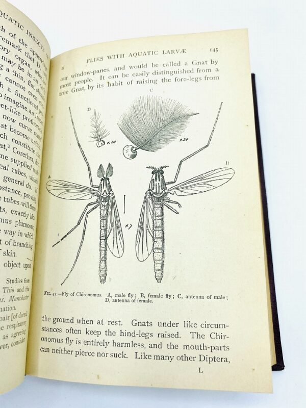 The Natural History of Aquatic Insects - Miall, Professor L. C. / Signed (1912)