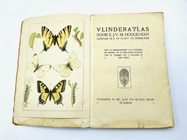 Vlinder atlas by E.J.V.M. Hoogeveen (1913) - incl. 20 litho's
