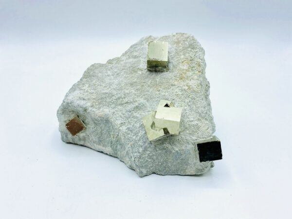 Pyrite on matrix including small cluster, Navajun, Spain