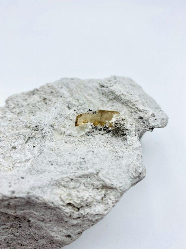 Beautiful single Topaz crystal in a matrix from Thomas Range, Utah