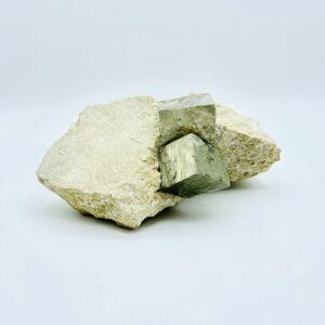Very large twin pyrite crystal on matrix, Navajun, Spain