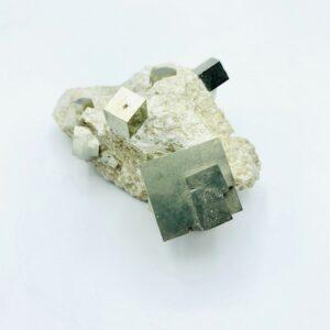Nice Pyrite matrix incl. inner cluster, Navajun, Spain